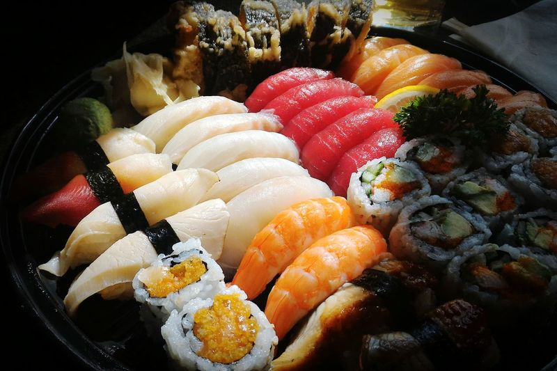 Sushi Maki Sushi Tray Japanese Food Foodie Yammy  Dinner Sushi Platter Seafood Fresh Sushi Holiday Lunch