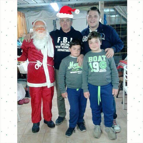 Babbo Natale, tio, yo, primo y mi hermano❤?