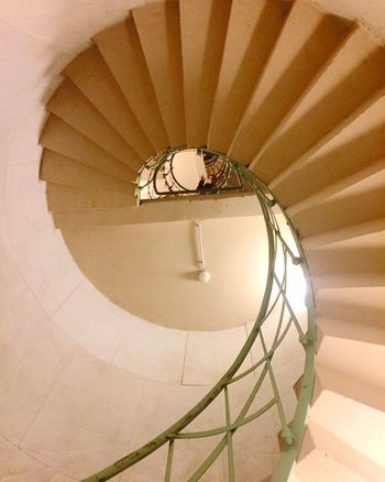 Staircase Steps And Staircases Spiral Steps Architecture Indoors  Railing Built Structure No People Low Angle View Illuminated Spiral Staircase Hand Rail Day