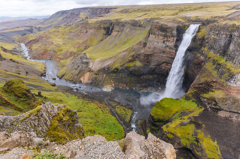 Haifoss, Iceland Iceland Nature Road Travel Day Landscape Mountain Nature No People Outdoors Scenics Travel Destinations Water Waterfall