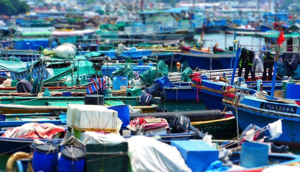 Nautical Vessel No People Harbor Large Group Of Objects Fishing Equipment Cheung Chau HongKong Beach