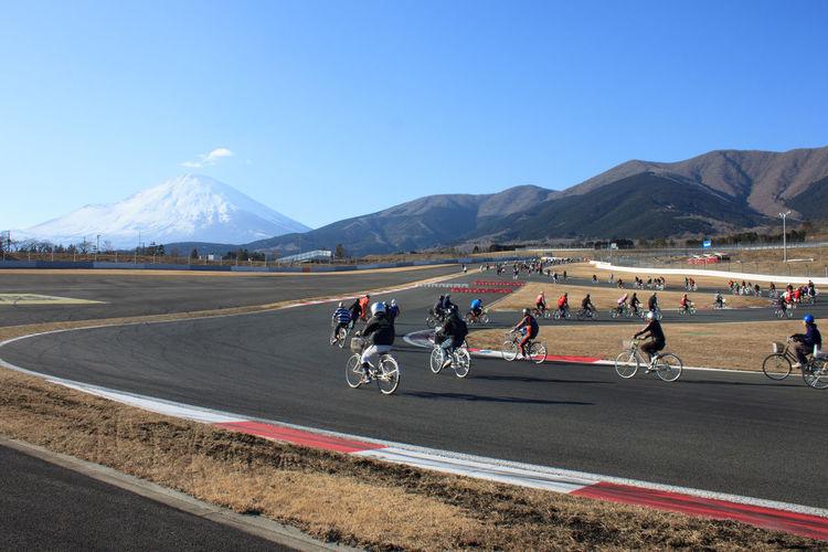 Bicycles Clear Sky Fujimountain Fujispeedway Japan Mountain Outdoors People Sports Race