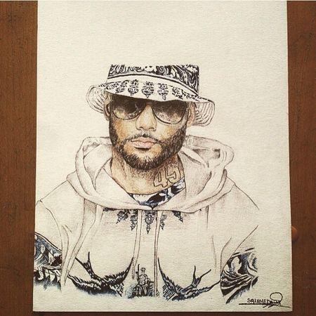 Portrait de Booba Art, Drawing, Creativity Drawing Booba Unkut Like4like Follow Follome Startdraws