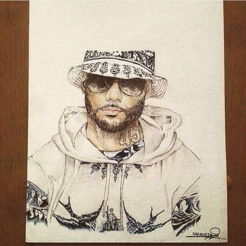 Portrait de Booba Art, Drawing, Creativity Drawing Booba Unkut Like4like Follow Follome Startdraws