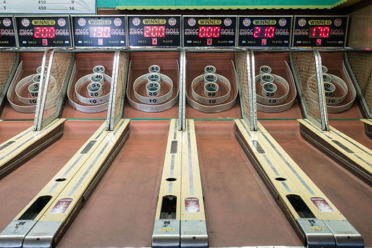 Skiball Arcade Architecture Day Game Indoors  Interior No People Text