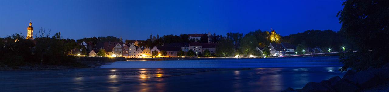 Landsberg Am Lech Waterfront At Night
