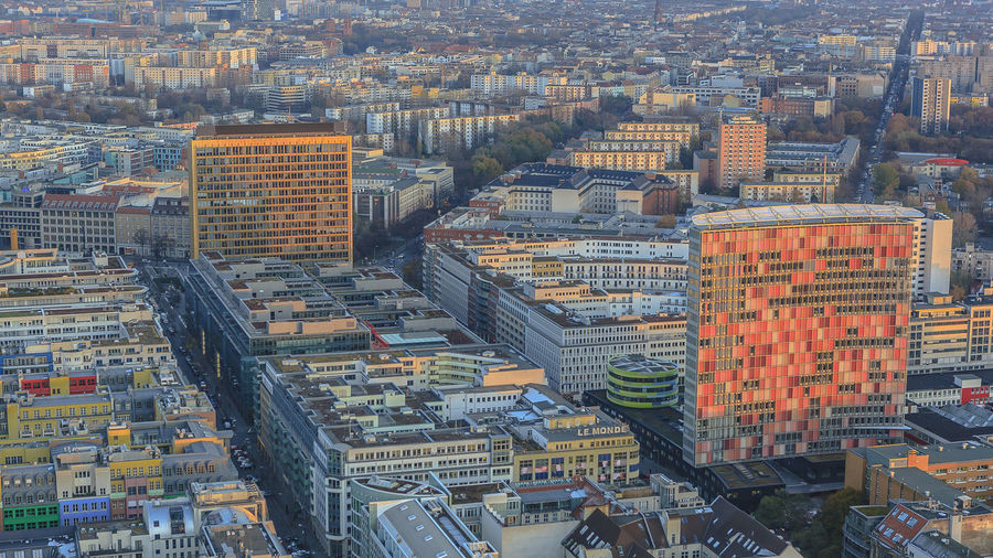 Aerial View Architecture Berlin Building Exterior City Cityscape Crowded Day Outdoors Skyscraper Tower Travel Destinations View