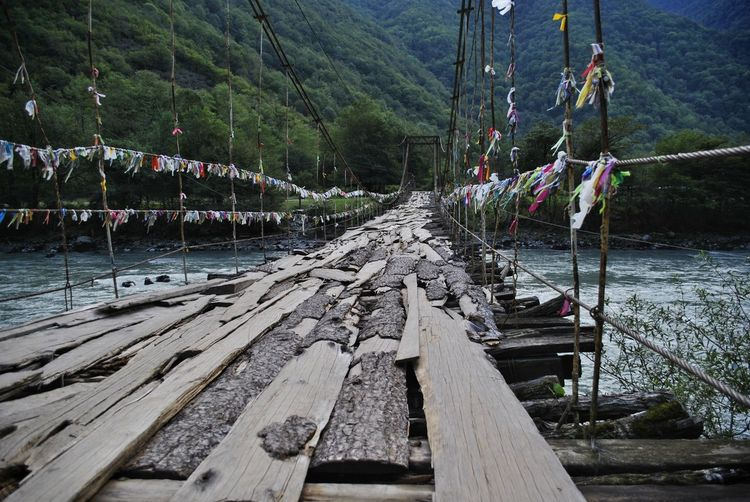 Panoramic view of pier over river
