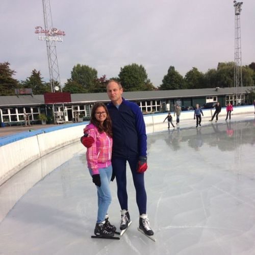 Iceskating Jaadedenbaan Amsterdam Ice with daddy and @michaelvk12