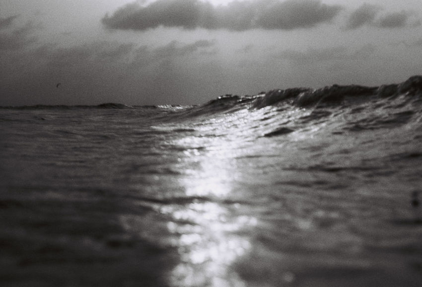 a day at the beach Film Photography Filmisnotdead Blackandwhite Black And White Blackandwhite Photography Sea Sky Water Wave Beauty In Nature Waterfront Cloud - Sky Nature Motion Horizon Scenics - Nature Land Horizon Over Water Day No People Selective Focus Outdoors Tranquility Beach Surface Level