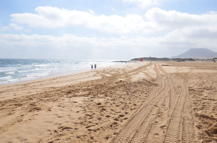 Fuerteventura Canarias Corralejo Sand Beach Sea Sky Nature Cloud - Sky Water Sand Dune Day Outdoors Travel Destinations