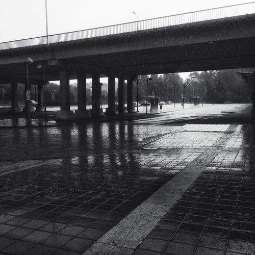 Rainy day Rainy Day Rostock Black And White Square Monochrome_Monday