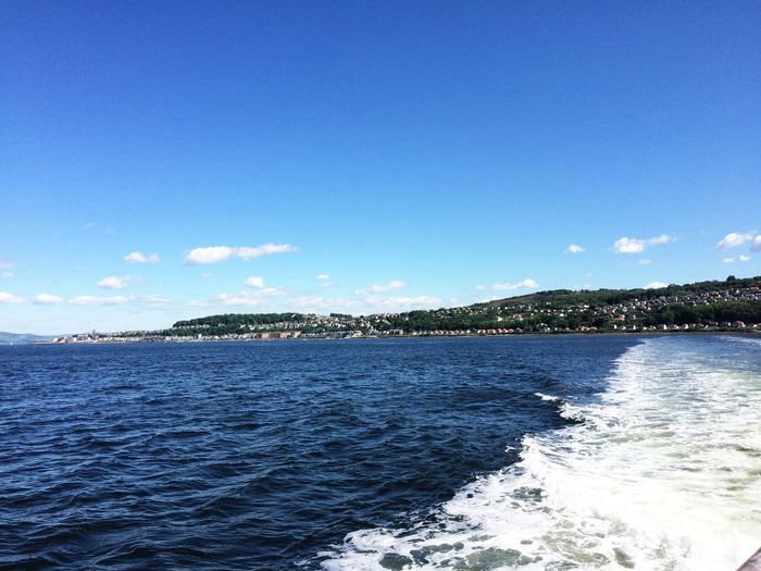 On the ferry to Dunoon..such a sunny day. Water Blue Sea Waterfront Tranquil Scene Rippled Tourism