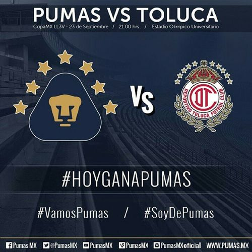 Hoy ganamos VamosPumas Pumas60 SoyDePumas Goya Goya