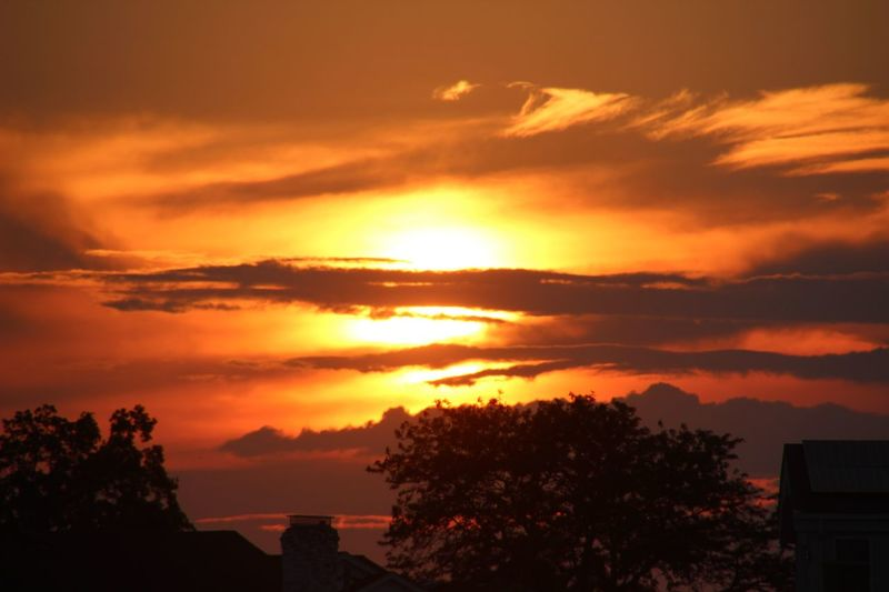 Sunset Beauty In Nature Dramatic Sky Orange Color Sky Tranquil Scene