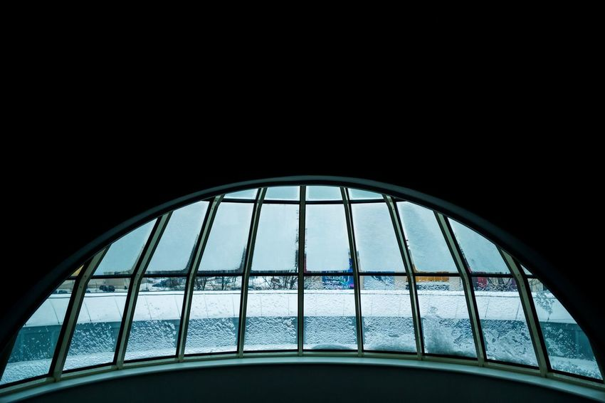 Negativespace Circular Pattern Symmetry Geometry Linesandcurves Archidetails Minimalism Abstract Curves ArchiTexture Urbanpatterns Curvedgrid Winter Window Close-up Sky Architecture Built Structure Building Exterior Semi-circle Dome Concentric Architectural Design Architectural Feature