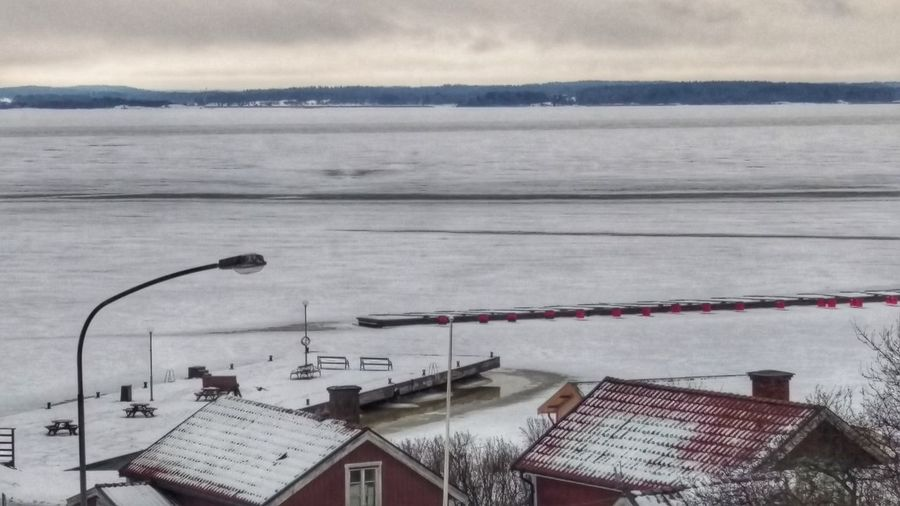 It's Cold Outside Kroket Village Taking Photos Frost Houses Iced Sea Village Pier Touristic Harbour Winter Scene Snow Covered View January Winter EyeEm Gallery Sweden Scandinavia Scandia Northern Europe Snow Snow ❄ Nature Kolmården