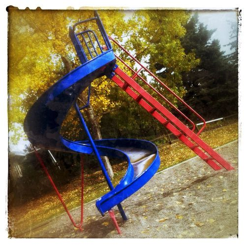 Sliding in to fall. IPhoneography Photography Autumn Playground