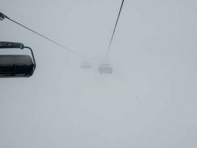 Beauty In Nature Cable Cold Temperature Day Fog Mode Of Transport Nature No People Outdoors Overhead Cable Car Scenics Ski Lift Sky Snow Transportation Weather Week On Eyeem Winter