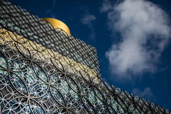 Birmingham Library Architecture Birmingham Birmingham Library Building Exterior Built Structure Clouds Colour Day Low Angle View Sky Skyporn