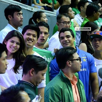 Who's who at the epic Ateneo-La Salle rivalry round 2? ??? . . . UAAP Uaap77 Uaapseason77 ADMUvsDLSU ateneolasalle ateneo blueeagles dlsu greenarchers hoop basketball themanansala