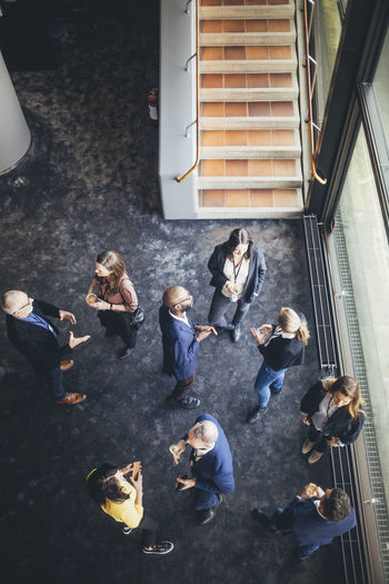High angle view of group of people