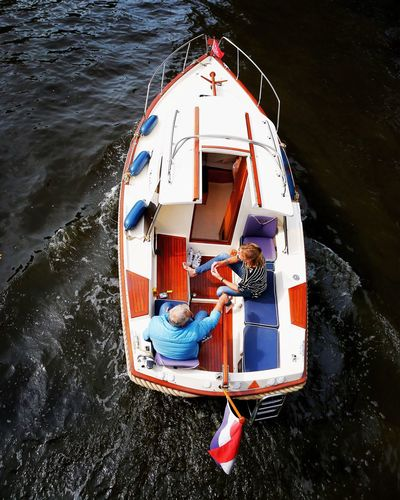 Sunday's Water Nautical Vessel Sea High Angle View Transportation Mode Of Transportation Nature Outdoors Motion Directly Above Day