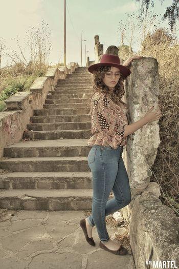 #Retro Model Sunset Indie Style Retro Abandoned Desertic