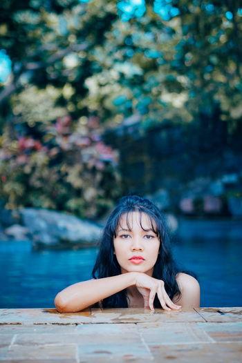 Photooftheday Swimming Swimming Pool Yogyakarta INDONESIA Outdoors Woman Mature Women Swimsuit Adult Nature Photography Summer