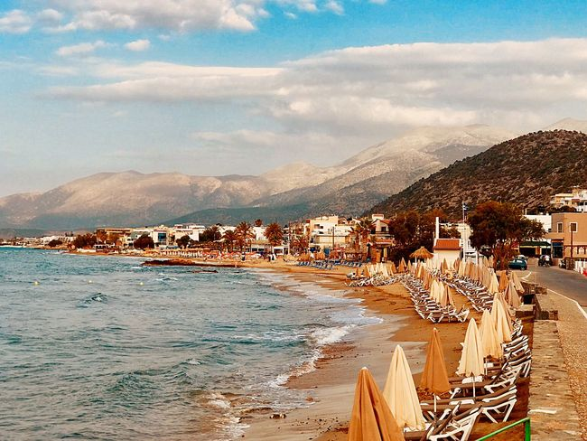 Stalis Greece Crete Sky Cloud - Sky Water Nature Day Land Mountain Architecture Beauty In Nature Beach Sea Building Exterior Travel Destinations Outdoors