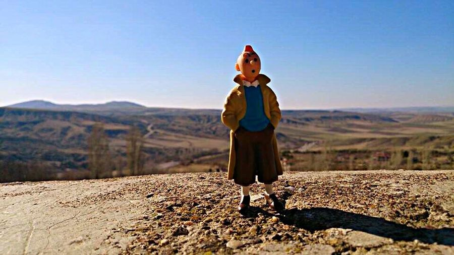 Tintin Tintin Turkey Haymana Steppes Anatolia Cartoons Toys Toyfigures One Person Sky Sunlight Real People Standing Nature Land
