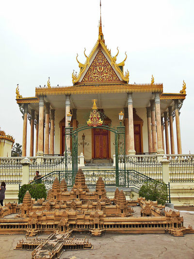 Architecture Eyeem Cambodia EyeEm City Shots Gold Gold Colored Majestic Miniature Angkor Wat No People Phnom Penh Place Of Worship Royal Palace Phnom Penh