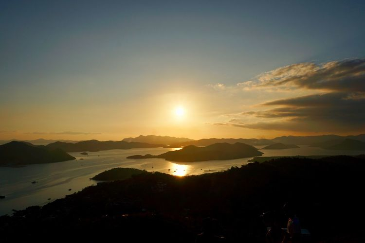 Mountain Outdoors Coron, Palawan Coron Hill Coron Golden Hour Philippines Scenics - Nature Beauty In Nature Sunset Tranquil Scene Tranquility Sunlight Orange Color Environment Non-urban Scene Sun Nature Water Silhouette Idyllic Mountain Range Sea Seascape Sea And Sky Golden Sunset The Traveler - 2019 EyeEm Awards