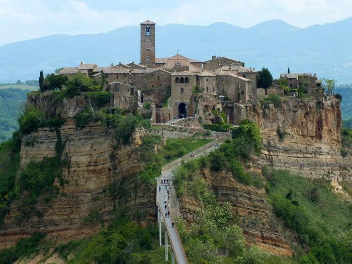 Ancient Architecture Built Structure Mountain Old Ruin Ruined Travel Destinations Miles Away Italy Civitadibagnoregio Bridge