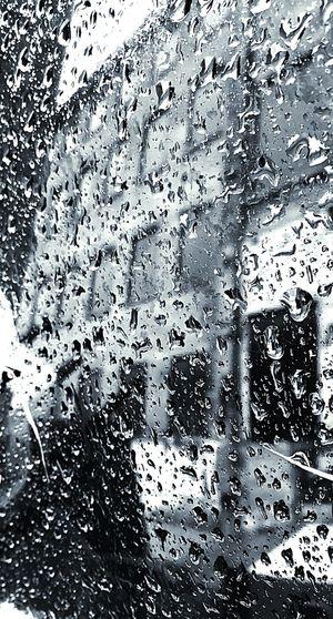 Full frame shot of wet window