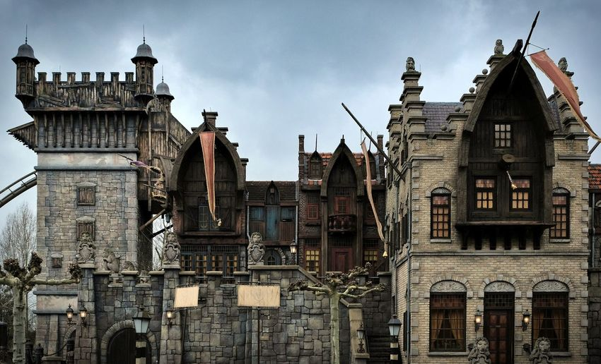 Attraction theme park the Efteling, Kaatsheuvel, the Netherlands Architecture Building Exterior Built Structure Sky Building City The Past History Day Nature Cloud - Sky No People Travel Destinations Outdoors Low Angle View Residential District Old Window Religion Travel Gothic Style