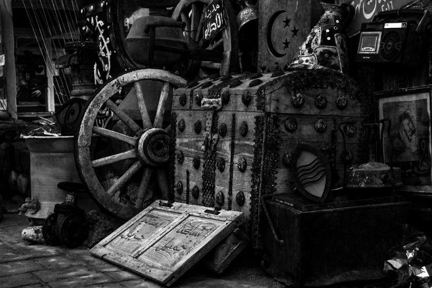 Antika Black & White Box Dahab Saini No People Old Items Old Wheel Old-fashioned