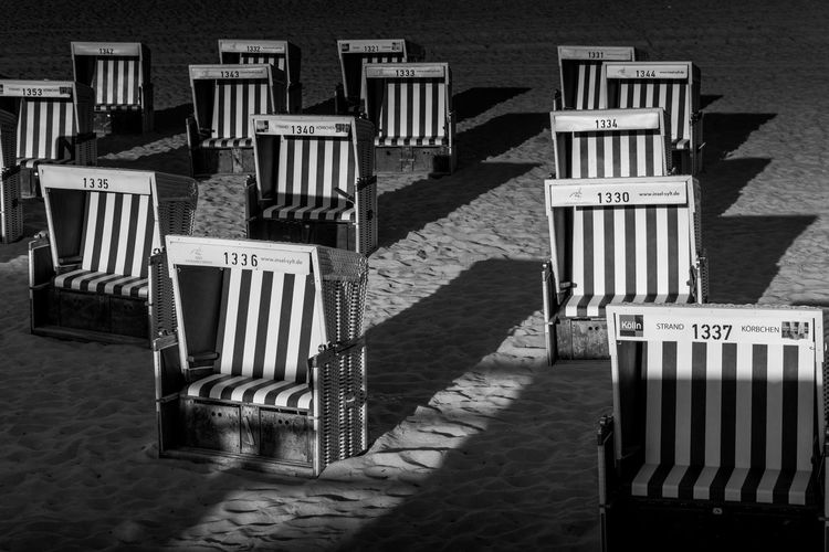 Hooded Beach Chairs On Sand