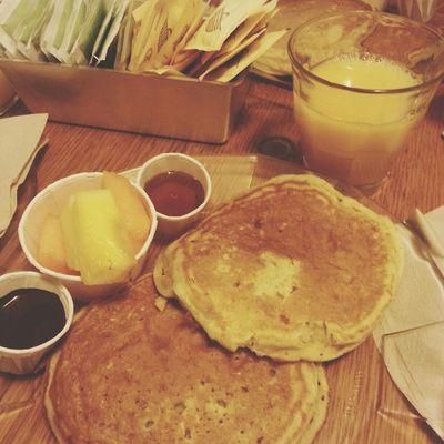 Brunch Orange Juice  Pancakes Fresh Fruits