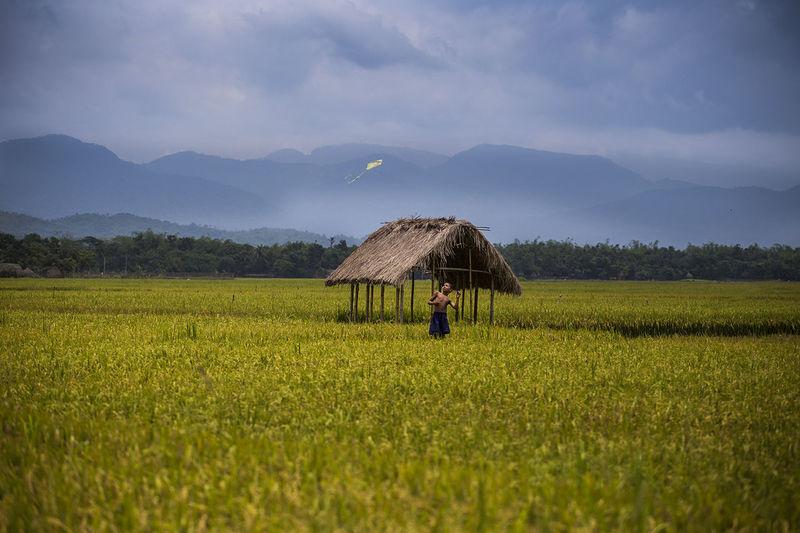 Sweet Memories of Yesterday. #ChildhoodMemories Bangladesh Blue Child Childhood Dreamy Field G Hi Kite Landscape Memories ❤ Pusan Shaan Sky TTLBD