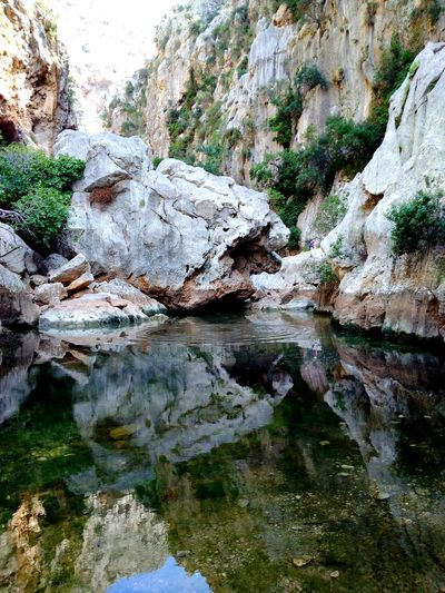 Rock - Object Nature Water Rock Formation Tranquility Day Beauty In Nature Outdoors No People Tranquil Scene Waterfront Tree Rock Formation Rocks Stone Stones & Water Stonestructures Monster Reflection Reflections
