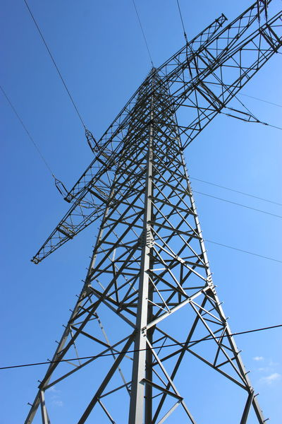 Cable Connection Electricity  Highvoltage Mast Power Line  Power Supply Strommast Structure