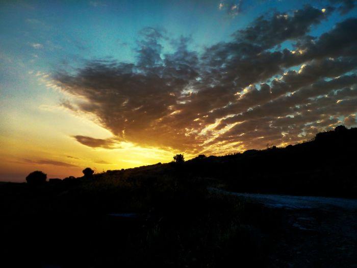 Para mas fotos seguirme en instagram como: @photos.albaa o @albarc._ o @photografic.pix Tree Sunset Silhouette Dramatic Sky Sky Landscape Cloud - Sky Romantic Sky Star Field Cloudscape Solar Eclipse