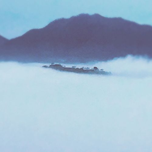 the ruins of Takeda Castle Castle Japan Beautiful View WhiteCollection White Clouds 竹田城 日本 ラピュタ 大学生