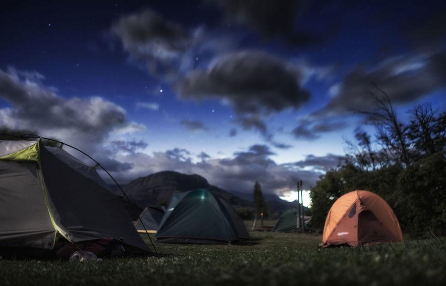 Camping Villa Cerro Castillo #patagonia CerroCastilllo Aysen Camping Land Nature Night Outdoors Scenics - Nature