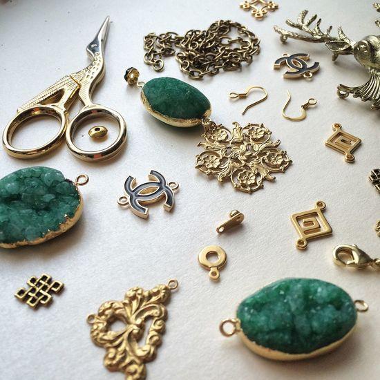 My work, my passion? Handmade Jewelry Jewellery Handmade Jewellery Colors Treasures Gold Accessories I Love My Job Candy