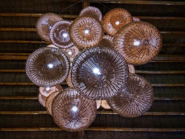 Kulotitayclicks Xiaomiphotography XiaomiPhilippines Shotbymi Xiaomiredminote3 Kulotitay Clicks Mobile Photography Native Rattan Wood - Material Close-up Chandelier Hanging Light Ceiling Hanging Electric Light Wooden Pattern
