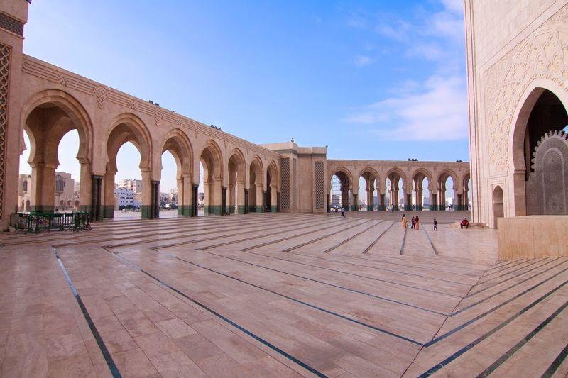 Hassan II Mosque Mosque Hassan 2 Casablanca, Morocco Moroccan Islamic Architecture Arches Square Arabic Building Site Culture Scenic Architecture Casablanca Historic History Religion
