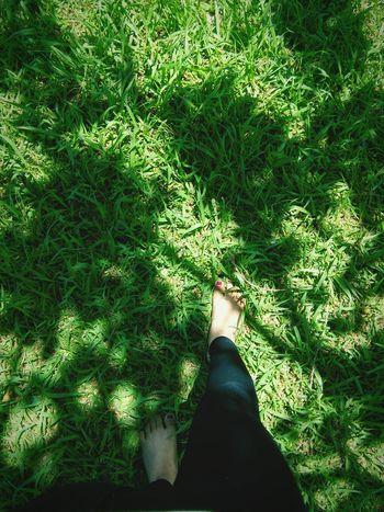 Barefoot on the grass Nature Nature Lover Grass Sunlight Beauty In Nature First Eyeem Photo The Week On EyeEm Komorebi Shadows & Lights EyeEmNewHere
