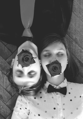 Dzhinkowski Daria Girl Boy Boy And Girl Love Lovers Roses Flowers Blackandwhite